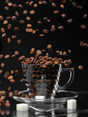 Coffee rain — Stock Photo