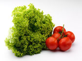 Lettuce and tomato — Stock Photo