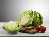 Cabbage and tomato — Stock Photo