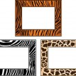 Collection of African framework - Stock Vector