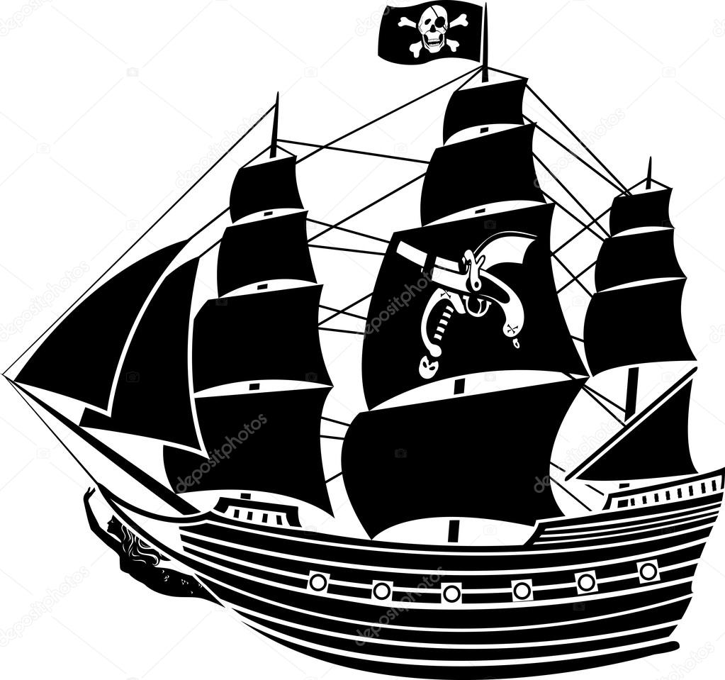 Pirate Ship Symbol Pirate Ship With The Jolly