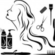 Set for hairdressers — Stock Vector