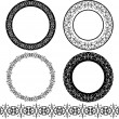 A set of black circular pattern - Stock Vector