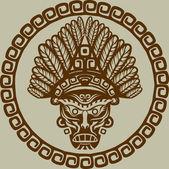 Native American mask — Stock Vector