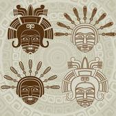 Native American mask — Vettoriale Stock