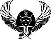 翼完全な顔でエジプト ファラオーン — ストックベクタ