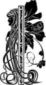 Decorative element in the art nouveau style — Vettoriale Stock