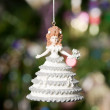 Christmas doll with tree and lights on b — Stock Photo #1272724