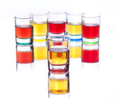 Alcohol drinks on white background — Stock Photo