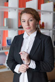 White collar worker in office — Stock Photo