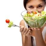 Woman and salad — Stock Photo #13764435
