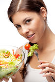 Woman and salad — Stock Photo