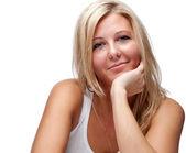 Mulher bonita com cabelo loiro — Fotografia Stock