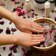 Spa for hands — Stock Photo