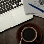 Modern office desktop — Stock Photo