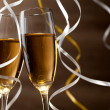 Pair glass of champagne — Stock Photo #14464977
