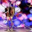 Pair glass of champagne — Stock Photo #14465883