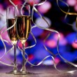 Pair glass of champagne — Stock Photo #14466227