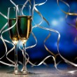 Pair glass of champagne — Stock Photo #14466821