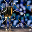 Pair glass of champagne — Stock Photo #14467239