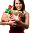 Royalty-Free Stock Photo: Woman with gifts