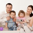 Stock Photo: Beautiful happy family
