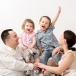 Beautiful happy family — Stock Photo #23247292