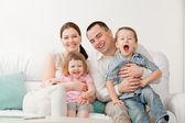 Beautiful happy family — Stock Photo