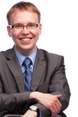 Man in suit and glasses — Stock Photo