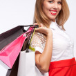 Royalty-Free Stock Photo: Shopping woman holding bags