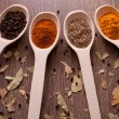 Spices on spoons - Photo