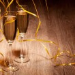 Two glass with champagne — Stock Photo