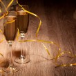 Stock Photo: Two glass with champagne