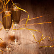 Two glass with champagne — Stock Photo #25510437