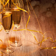 Two glass with champagne - Stock Photo