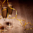 Two glass with champagne — Stock Photo #25510573
