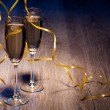 Pair glasses of champagne — Stock Photo