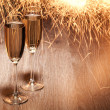 Flutes of champagne — Stock Photo #25519797