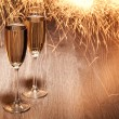 Flutes of champagne — Stock Photo