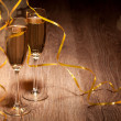 Two glass with champagne — Stock Photo #25520275