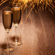 Two glass with champagne — Stock Photo #25520537