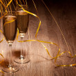 Two glass with champagne — Stok fotoğraf
