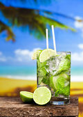 Two glasses of Mojito cocktail — Stock Photo