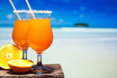 Two bocals of Tequila Sunrise cocktail — Stock Photo