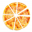 Four cheese pizza — Stock Photo #30426803