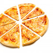Stock Photo: Four cheese pizza