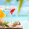 Glasses of cocktails — Stock Photo