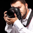 Foto Stock: Photographer with camera