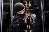 Burglar wearing black mask — Stockfoto