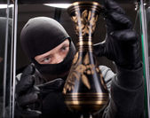 Burglar wearing black mask — Stock Photo